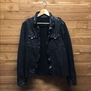 All Saints 'McKay' leather shirt